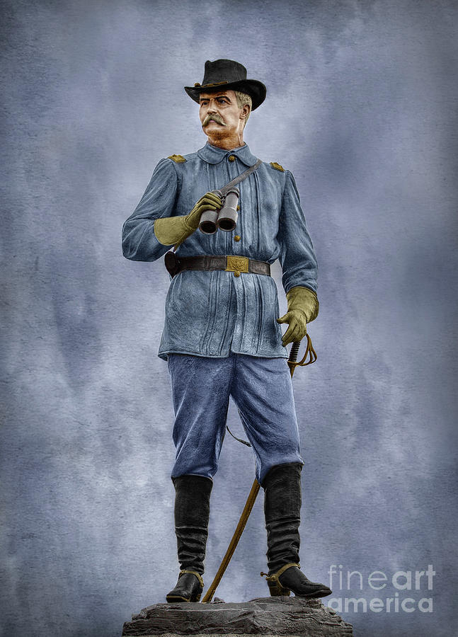 General John Buford At Gettysburg Digital Art