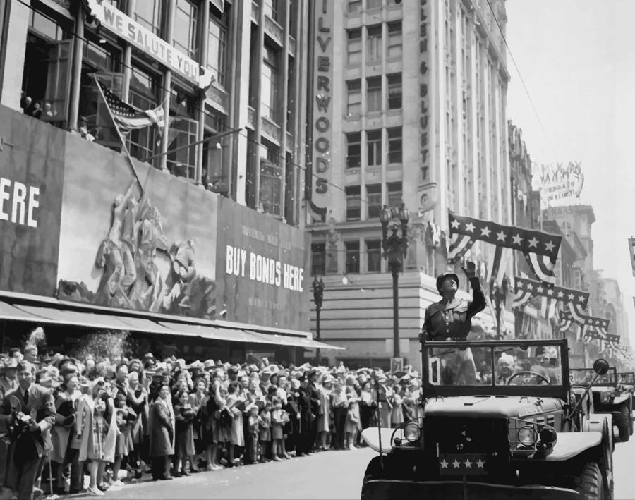General Patton Ticker Tape Parade Painting