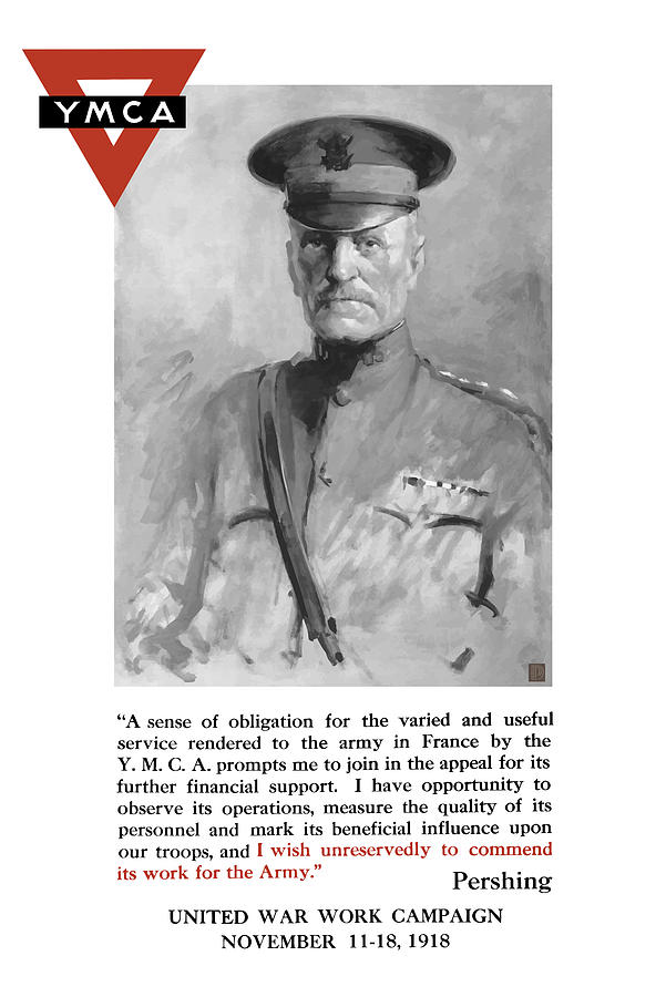 General Pershing United War Works Campaign Painting  - General Pershing United War Works Campaign Fine Art Print