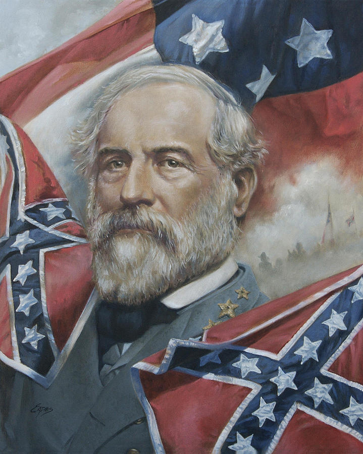 General Robert E Lee Painting  - General Robert E Lee Fine Art Print