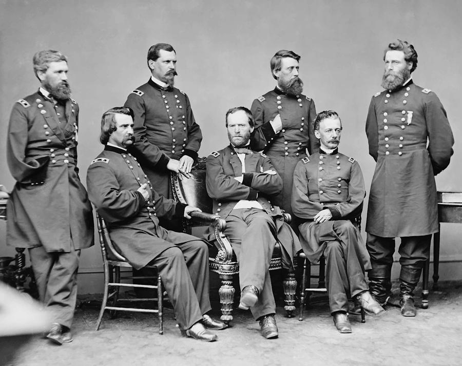 General Sherman And His Staff  Painting