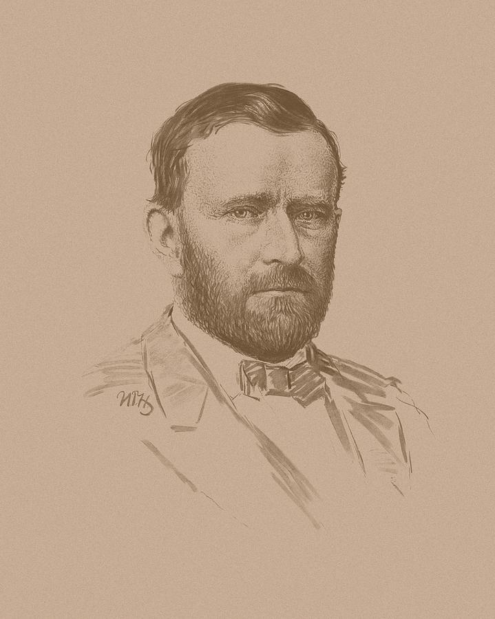 General Ulysses S Grant Drawing