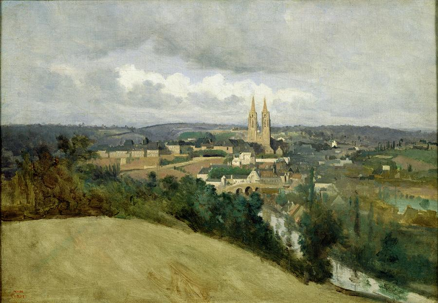 General View Of The Town Of Saint Lo Painting