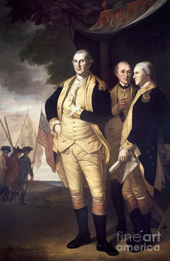 Generals At Yorktown, 1781 Photograph