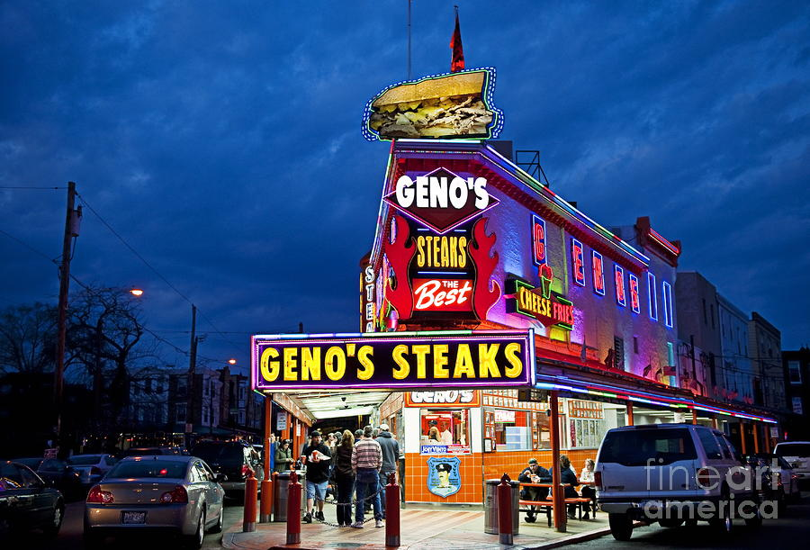 Genos Steaks South Philly Photograph  - Genos Steaks South Philly Fine Art Print