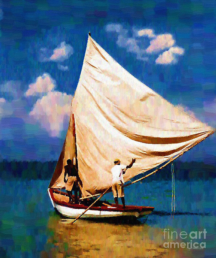 Gentle Winds Painting  - Gentle Winds Fine Art Print