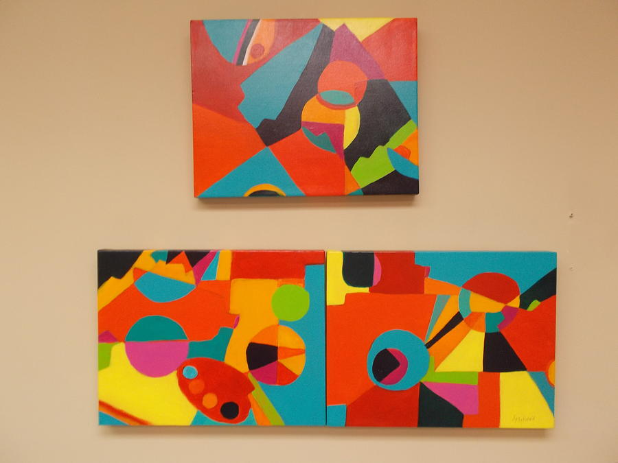 Geometric designs painting by kathy rabold for Geometric paint designs