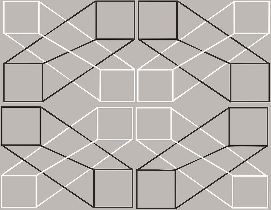 Geometric illusion painting by john mccolgan for Geometric illusion art