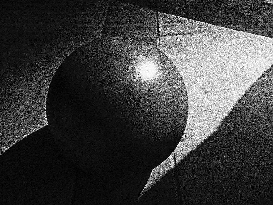 Geometry Photograph - Geometry In Light And Shadow Bw by Seth Shotwell