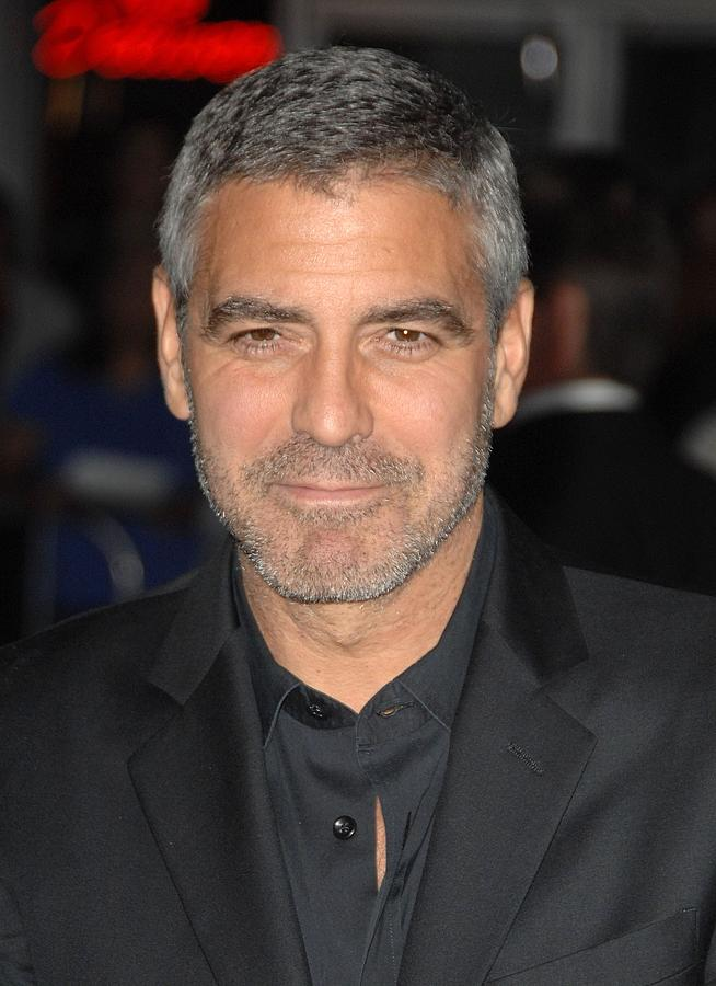 George Clooney At Arrivals For Up In Photograph  - George Clooney At Arrivals For Up In Fine Art Print