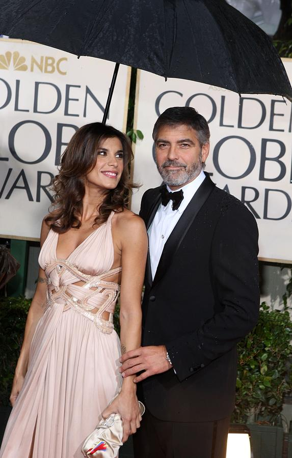George Clooney Photograph - George Clooney, Elisabetta Canalis by Everett