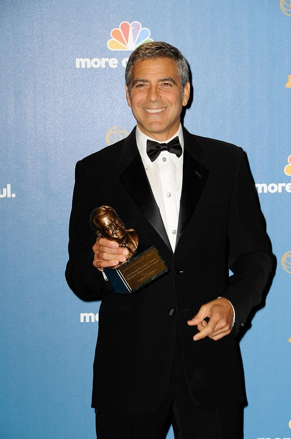 George Clooney Photograph - George Clooney Wearing Giorgio Armani by Everett