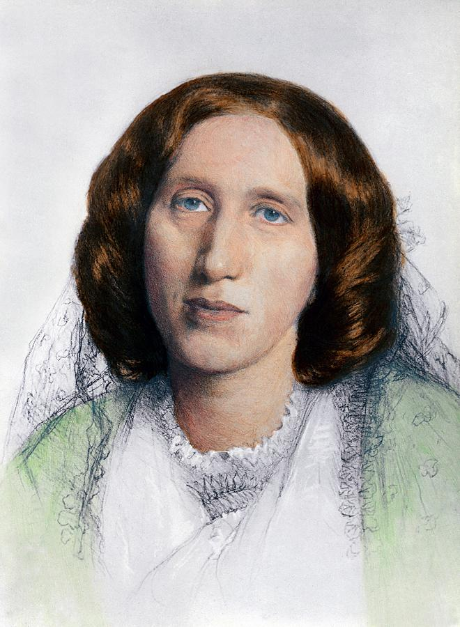 George Eliot 1819-1880 Was Born Mary Photograph  - George Eliot 1819-1880 Was Born Mary Fine Art Print