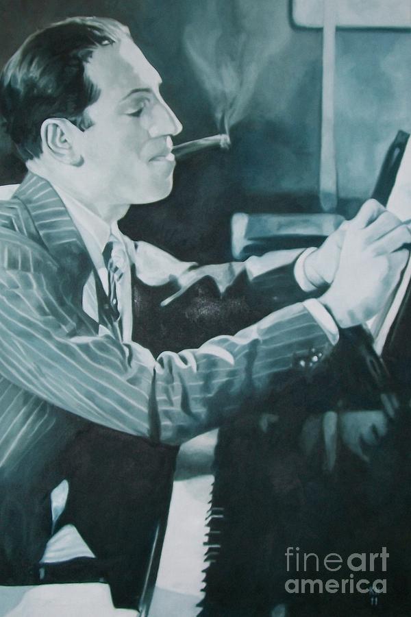 George Gershwin 1930s. Painting