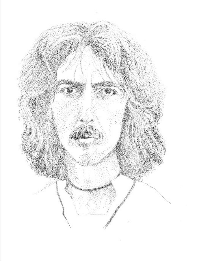 George Harrison Drawing  - George Harrison Fine Art Print