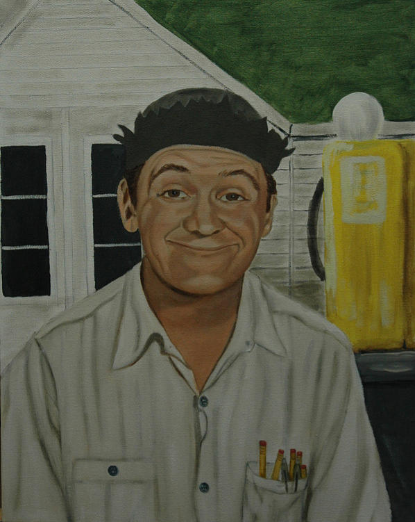 George Lindsey As Goober Painting  - George Lindsey As Goober Fine Art Print