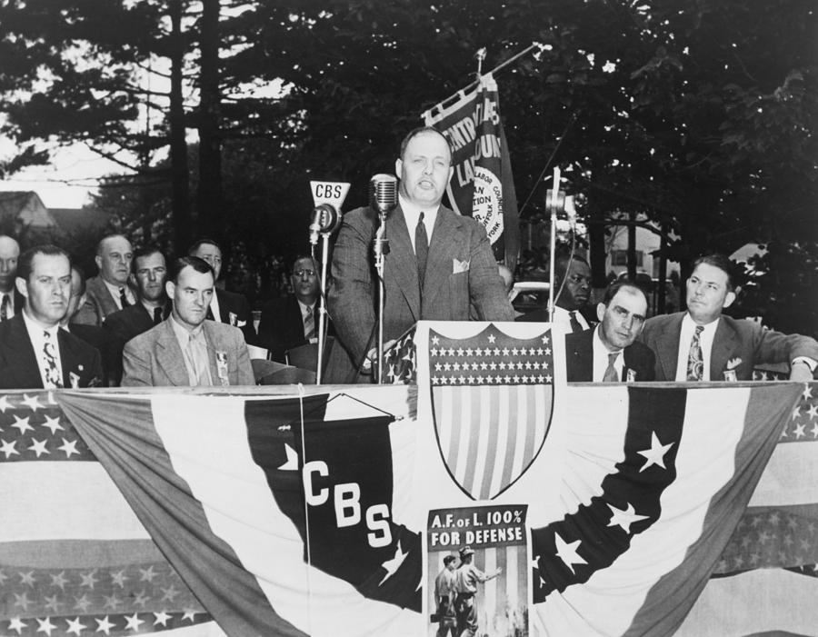George Meany 1894-1980 Speaking Photograph