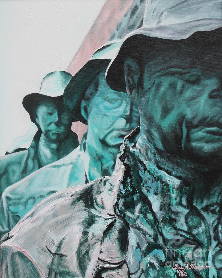 George Segals...food Line Painting