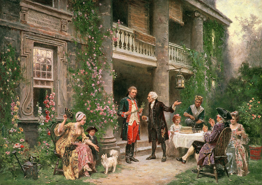 George Washington At Bartrams Garden Painting  - George Washington At Bartrams Garden Fine Art Print