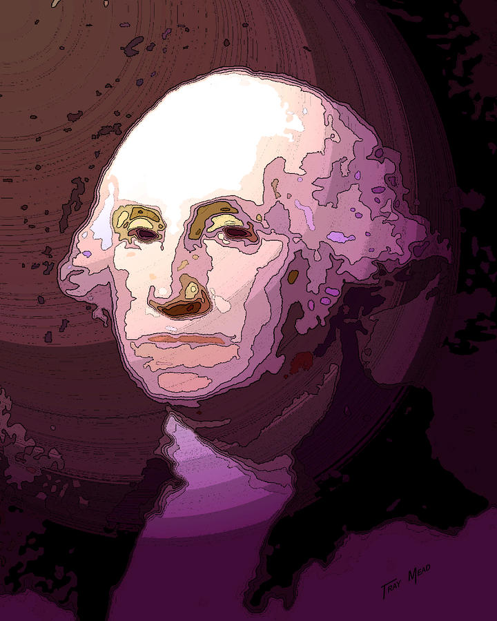 George Washington Drawing  - George Washington Fine Art Print