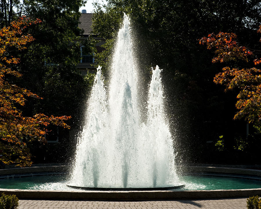 Georgia Herty Field Fountain On Uga North Campus Photograph
