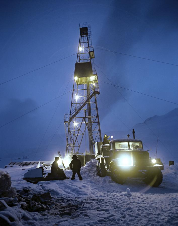 Geothermal Power Station Drilling Photograph