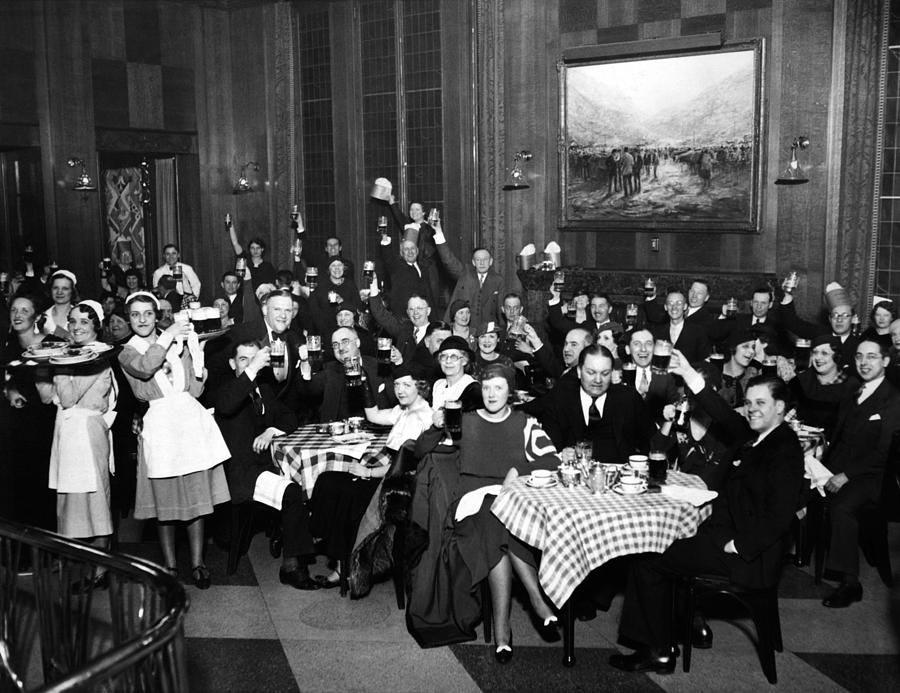 German-americans Celebrate The End Photograph