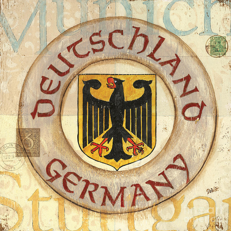 German Coat Of Arms Painting  - German Coat Of Arms Fine Art Print