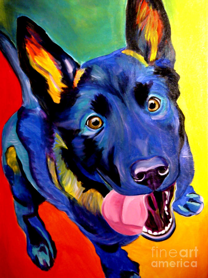 German Shepherd - Phoenix Painting