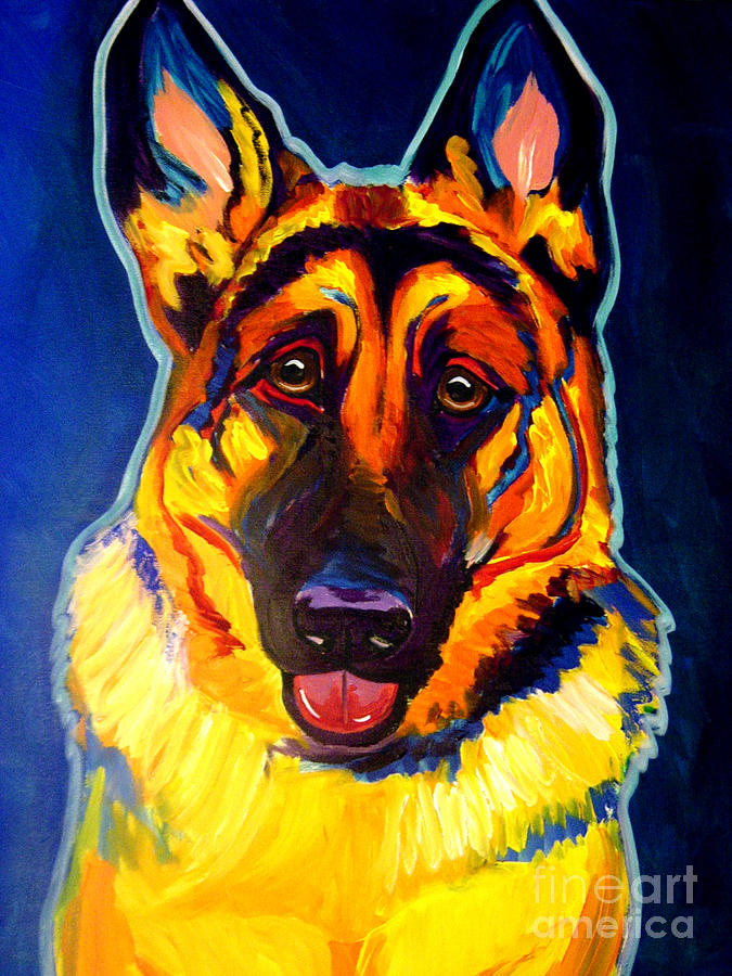 German Shepherd - Sengen Painting