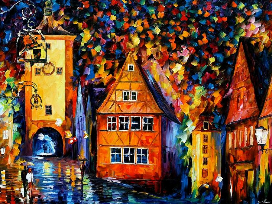 Germany - Medieval Rothenburg Painting  - Germany - Medieval Rothenburg Fine Art Print
