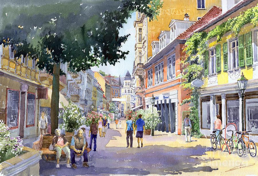 Germany Baden-baden Lange Strasse Painting