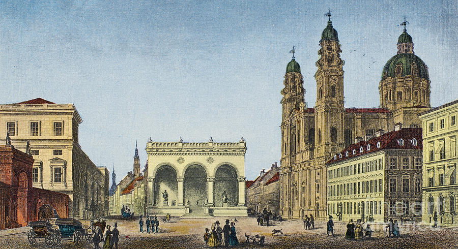 Germany: Munich, C1845 Photograph  - Germany: Munich, C1845 Fine Art Print