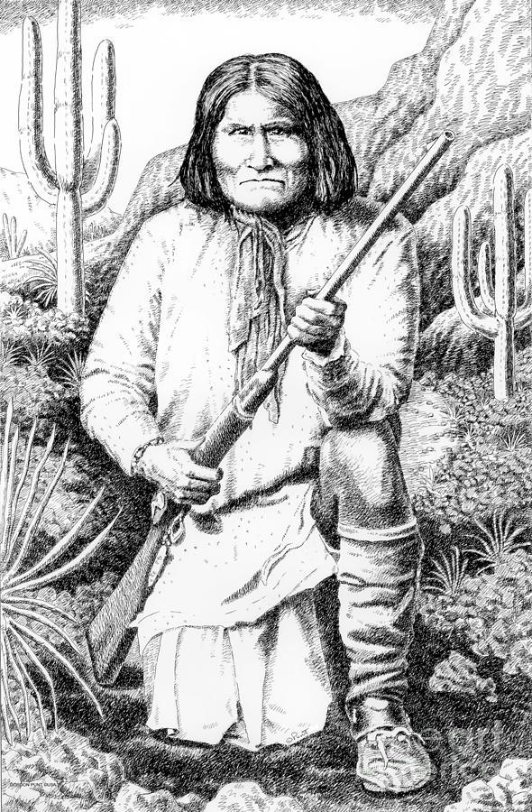 Jim Bridger Drawing - Geronimo by Gordon Punt