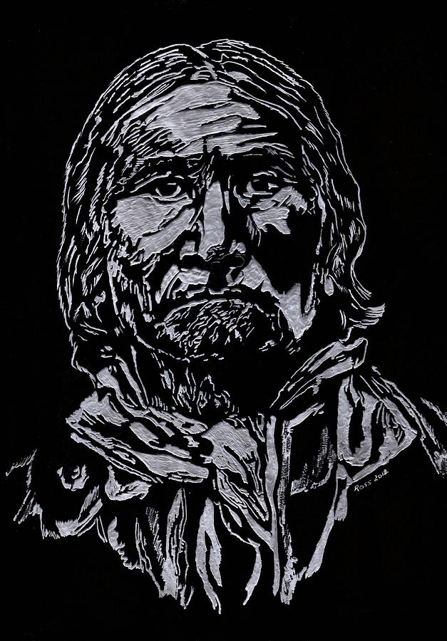 Portrait Sculpture - Geronimo by Jim Ross