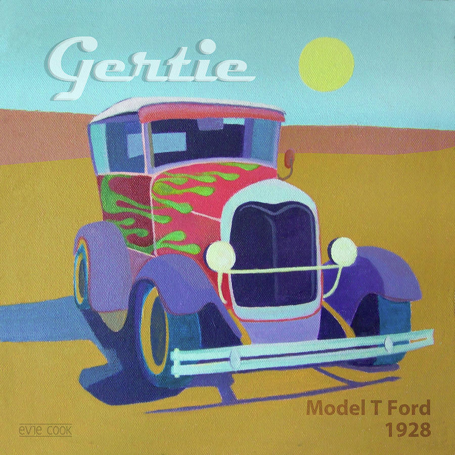 Gertie Model T Digital Art  - Gertie Model T Fine Art Print