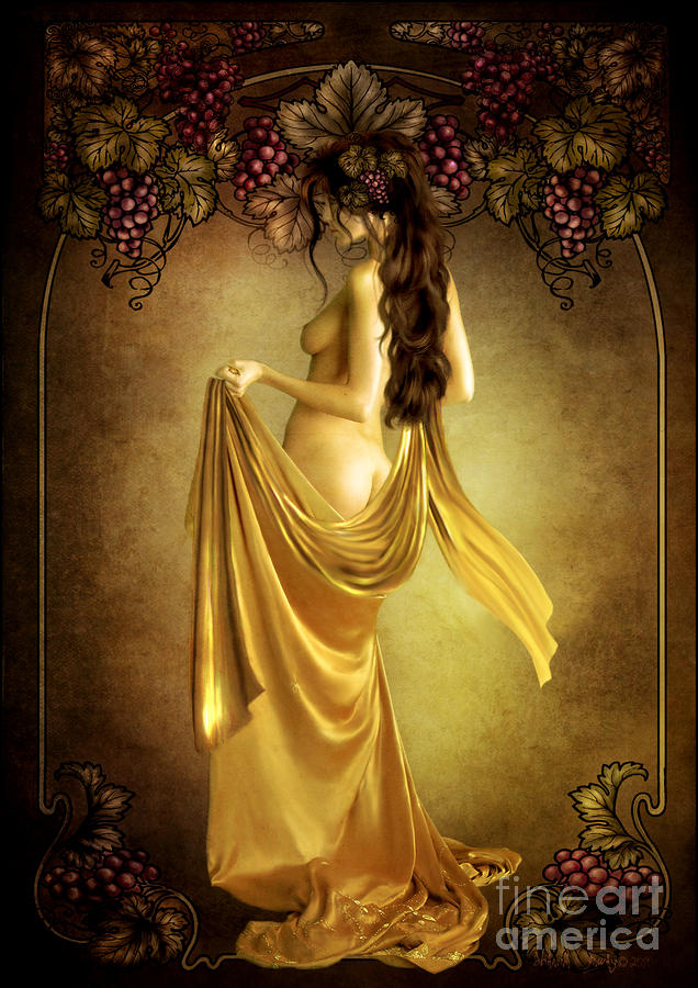 Geshtinanna Lady Of The Vine Digital Art  - Geshtinanna Lady Of The Vine Fine Art Print