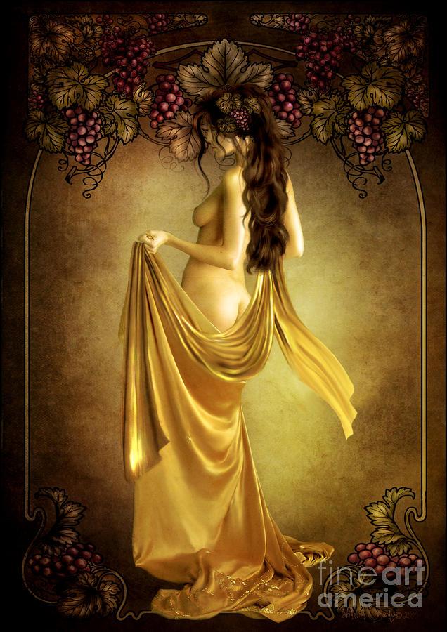 Geshtinanna Lady Of The Vine Digital Art