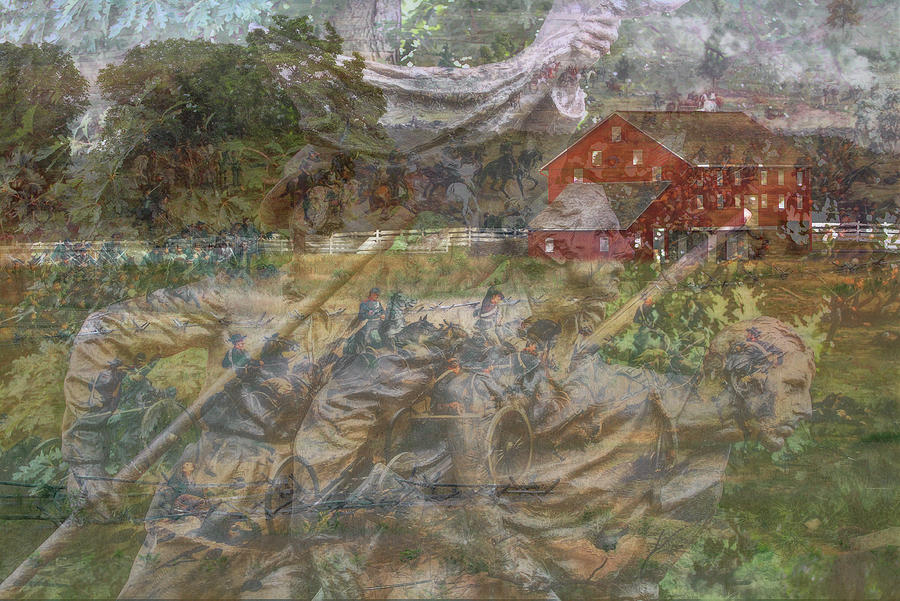 Gettysburg Back In Time Digital Art