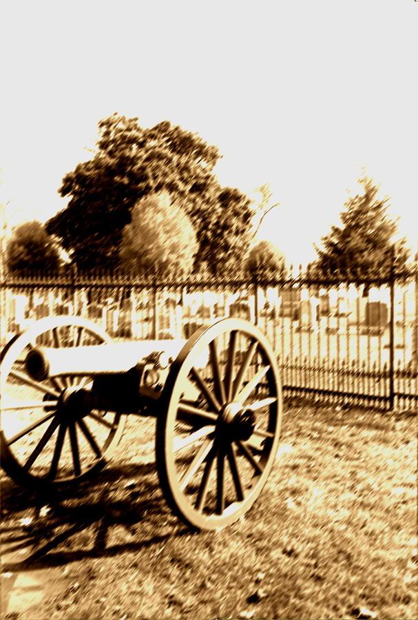 Gettysburg Cannon Photograph
