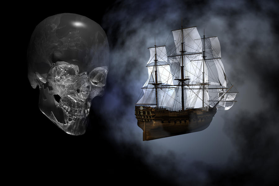 Ghost Ship Digital Art  - Ghost Ship Fine Art Print