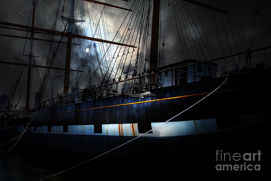 Ghost Ship Of The San Francisco Bay . 7d14153 Photograph  - Ghost Ship Of The San Francisco Bay . 7d14153 Fine Art Print