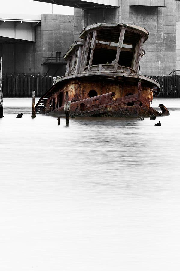 Ghost Tug Photograph  - Ghost Tug Fine Art Print