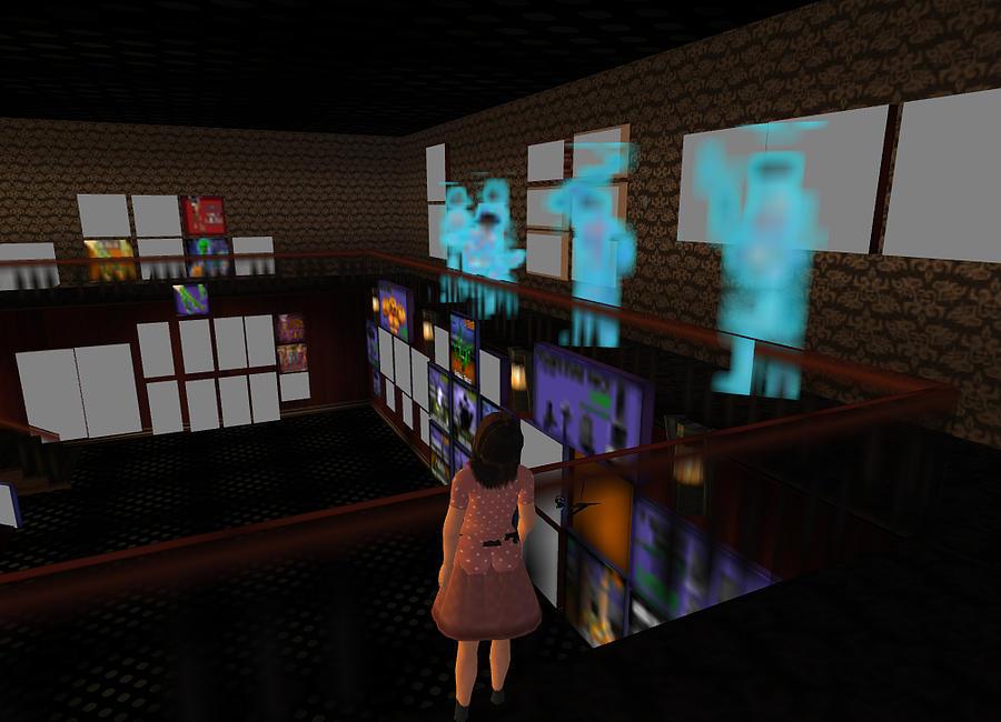 Virtual Digital Art - Ghosts Upstairs by Amy Bradley