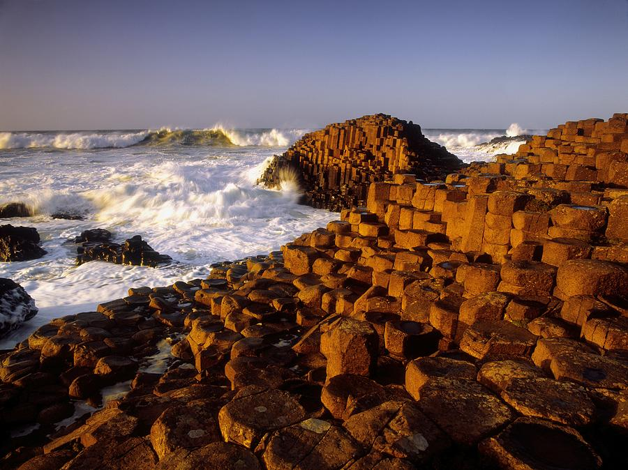 Sea Photograph - Giants Causeway, County Antrim, Ireland by The Irish Image Collection