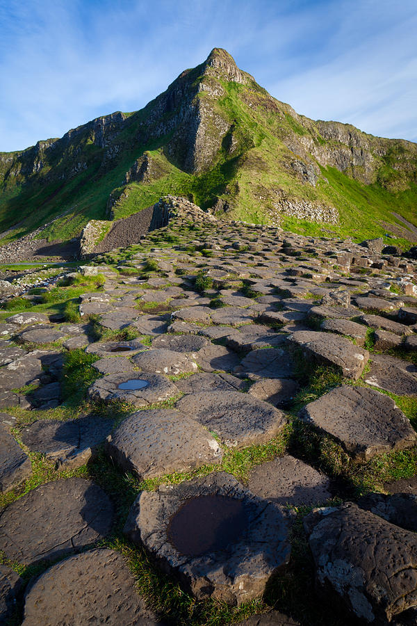 Giants Causeway Green Peak Photograph  - Giants Causeway Green Peak Fine Art Print