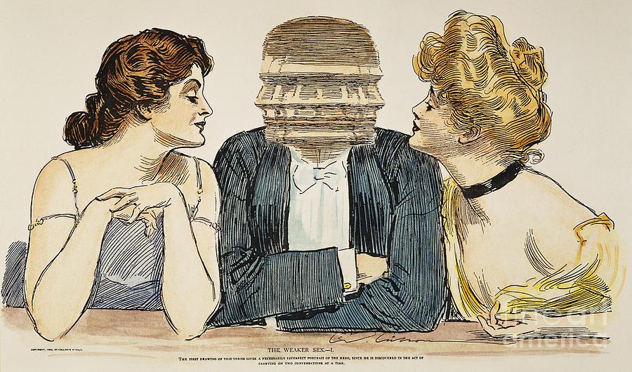 Gibson Girls, 1903 Photograph