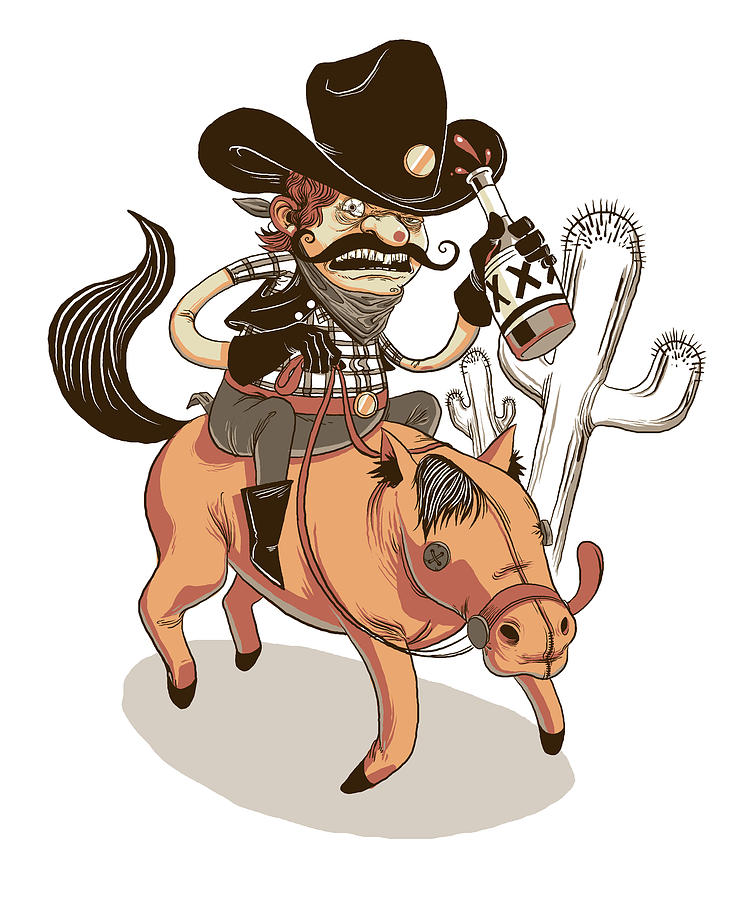 Cowboy Digital Art - Giddy Up by Michael Myers