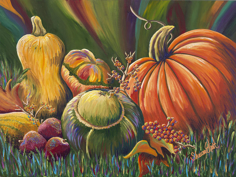 Gifts Of Autumn Painting  - Gifts Of Autumn Fine Art Print