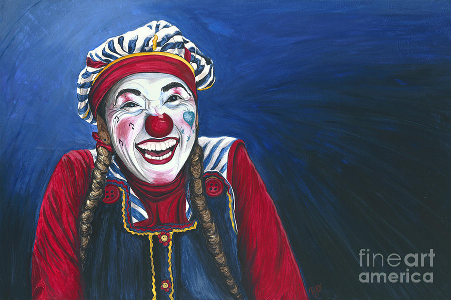 Giggles The Clown Painting